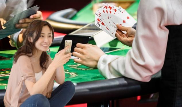 ベラジョンのライブカジノをスマホで遊ぶ